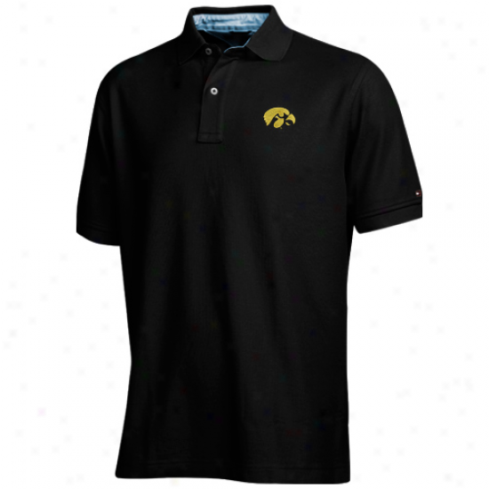 Tommy Hilfiger Iowa Hawkeyes Black Ivy Polo
