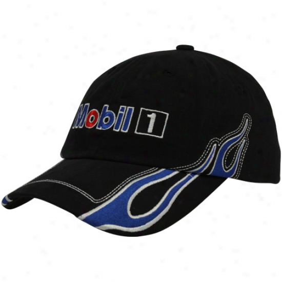 Tony Stewrat Black Exhaust Flames Adjustable Hat