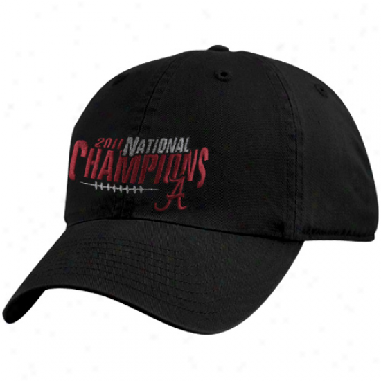 Top Of The World Alabamz Crimson Tide Black 2011 Bcs National Champions Adjustable Hat