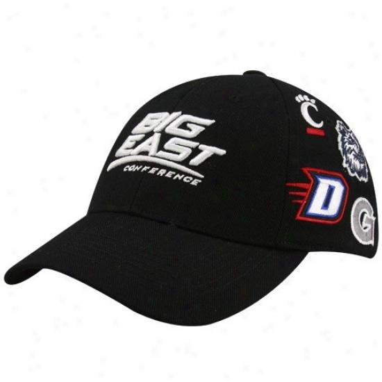 Highest part Of The World Black Big East Conference All Over Adjustable Hat