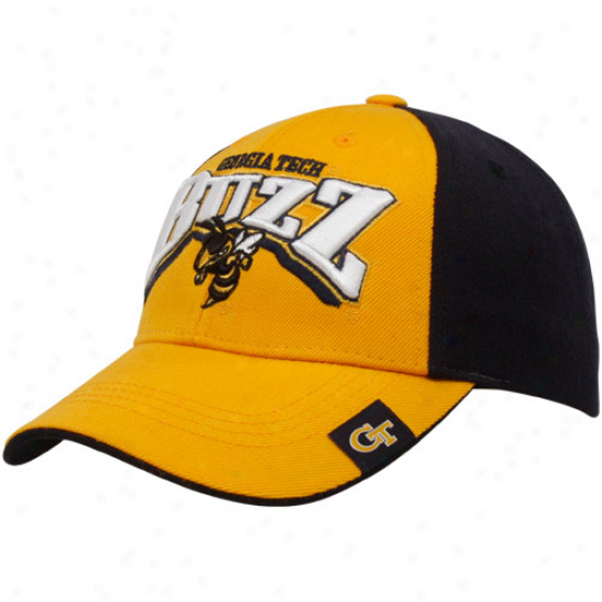 Highest part Of The World Georgia Tech Golden Jackets Gold-black Full Force Adjustable Hat