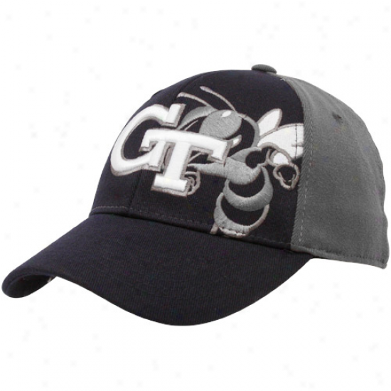 Top Of The World Georgia Tech Yellow Jackets Navy Blue-gray Audible One-fit Hat