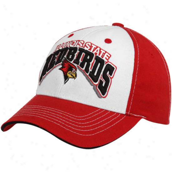 Summit Of The World Illinois State Redbirds Red-white Big Shot Adjustable Hat
