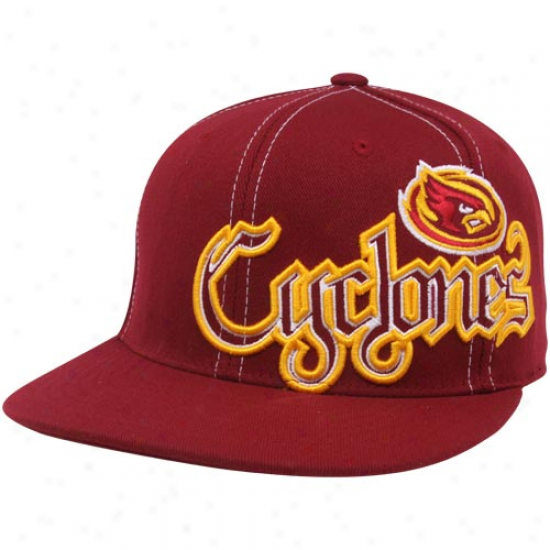 Top Of The World Iowa State Cyclones Cardinal Saga Flat Brim One-fit Hat