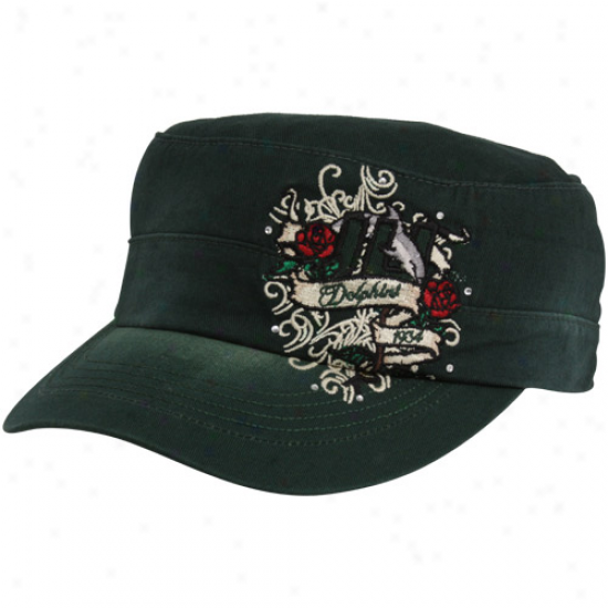 To Of The World Jacksonville University Dolphins Ladies Green Eve Adjustable Military-style Hat