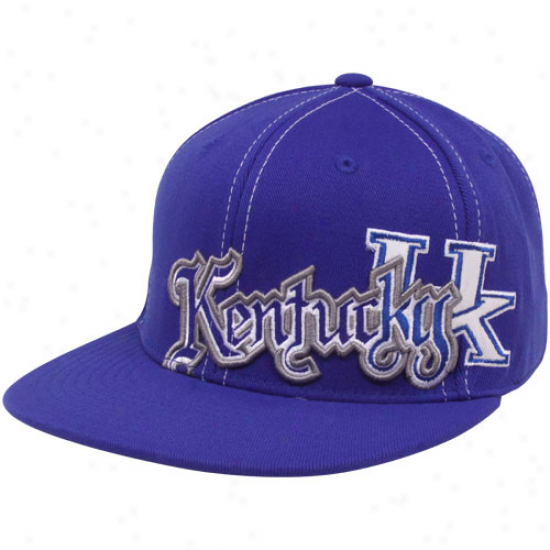 Top Of The Earth Kentucky Wildcats Royal Blue Saga Flat Brim One-fit Hat
