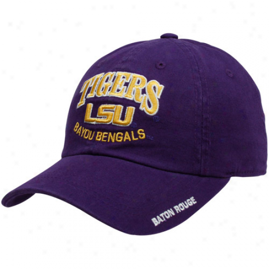 Top Of The World Lsu Tigers Pyrple Nationwide Adjustable Hat