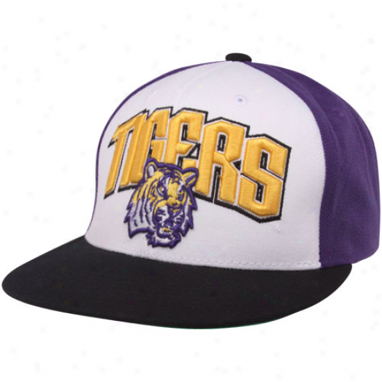 Top Of The World Lsu Tigers Purple-white-black Trend Snapback Adjustable Hat
