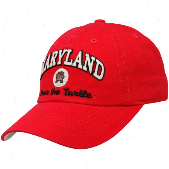Top Of The World Maryland Terrapins Red Old Timer Adjustable Hat