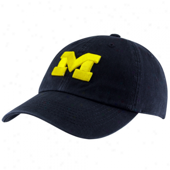 Top Of The World Michigan Wolverines Crew Adjustable Hat - Navy Blue