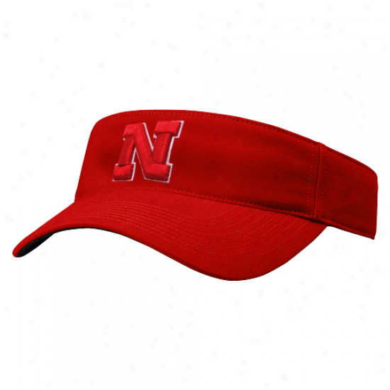 Surface Of The World Nebraska Cornhuskers Scarlet Birdie Adjustable Visor