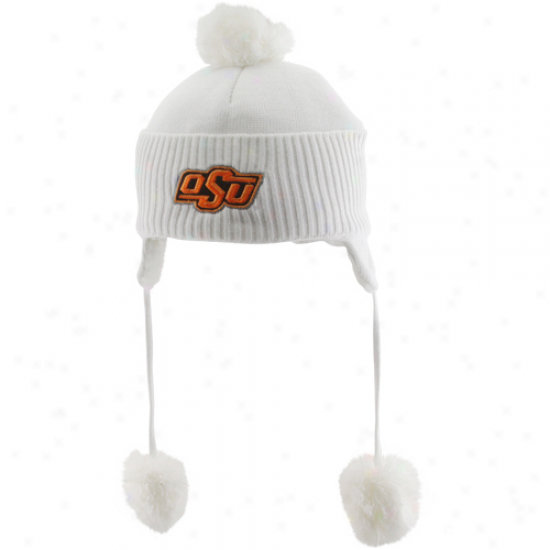 Top Of The World Oklahoma State Cowboys Infant White Teddy Toboggan Knit Beanie
