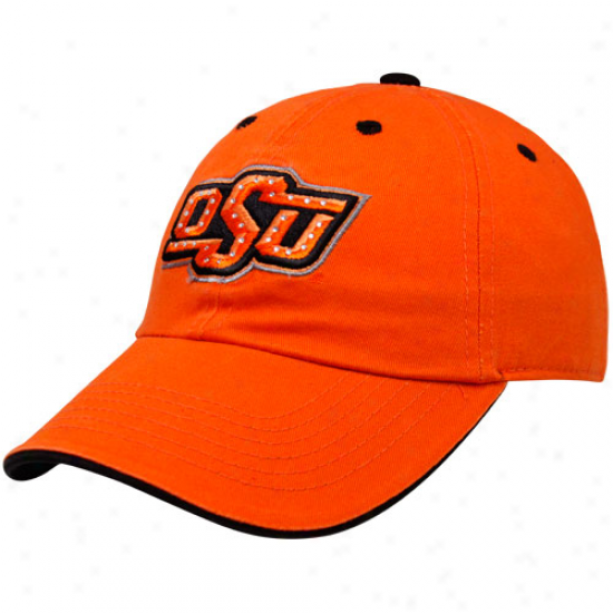 Top Of The World Oklahoma S5ate Cowboys Ladies Orange Woman of refinement Bling Adjustable Hat