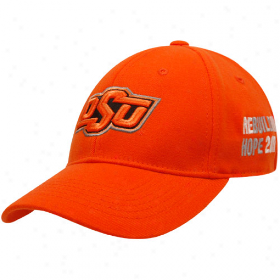 Top Of The World Oklahoma State Cowboys Orange Tornado Relief One-fit Cardinal's office