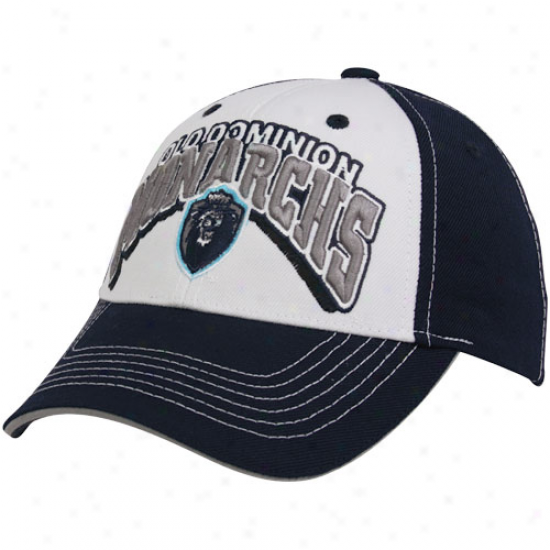 Top Of The World Old Dominion Monarchs Ships of war Blue-ahite Big Interwoven Adjustable Hat