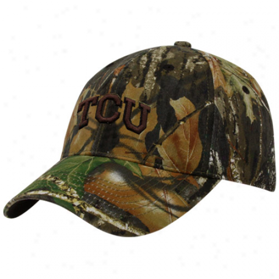 Top Of The World Texas Christian Horned Frogs (tcu) Mission Mossy Oak Camo One-fit Hat