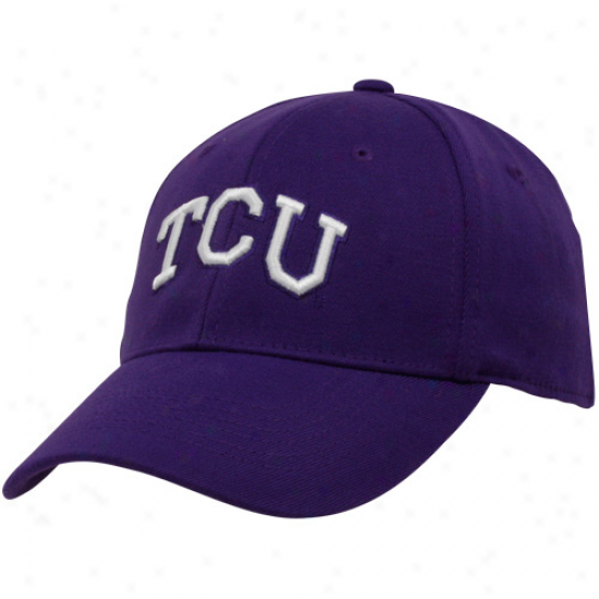 Top Of The World Texas Christian Horned Frogs (tcu) Purple Team Color Premium One-fit Hat