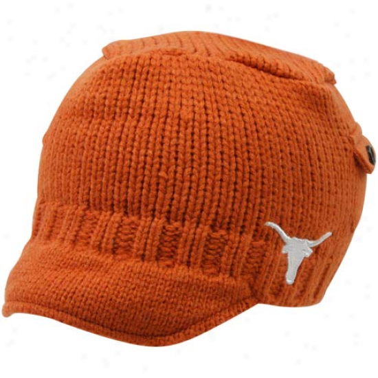 Top Of The Planet Texas Longhorns You5h Burnt Orange Bobby Cable Knit Beanie