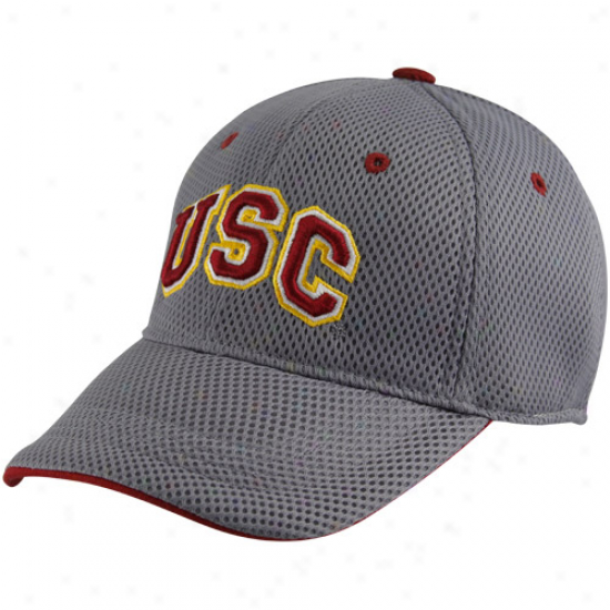 Top Of The World Usc Trojans Youth Gray Elite One-fit Hat