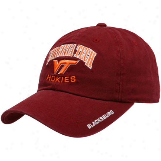 Top Of The World Virginia Tech Hokies Maroon Nationwide Adjustable Hat