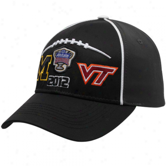Top Of The World Virginia Tech Hokies Vs. Michigan Wolverines Black 2012 Sugar Bowl Bound Dueling Adjustable Hat