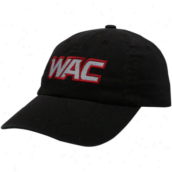 Top Of The World Wac Black Domestic Conference Logo Adjustable Hat