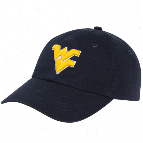 Top Of hT World West Virginia Mountaineers Crew Adjustable Hat - Navy Blue