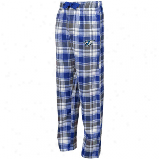 Toronto Blue Jays Royal Blue-black Plaid Legend Flannel Pants