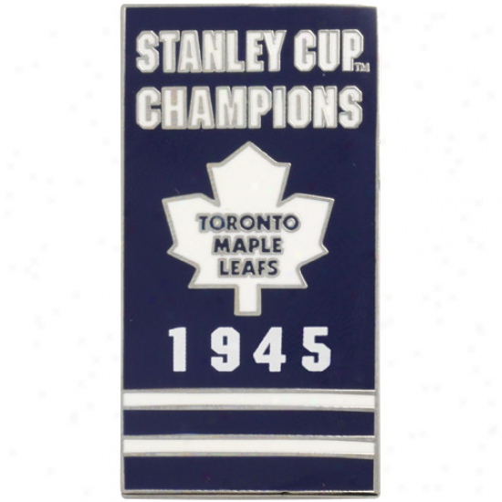 Toronto Maple Leafs 1945 Stanley Cup Champs Banner Pin