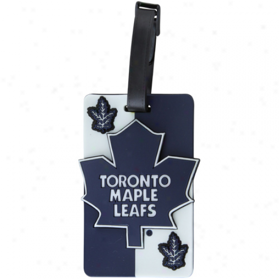 Toronto Maple Leafs Embossed Logo Rubber Luggage Tag