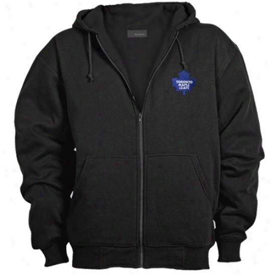 Toronto Maple Leafs Navy lBue Craftsman Full Zip Hoody Sweatshirt