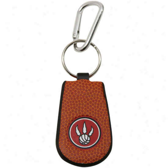 Toronto Raptors Basketball Leather Keychain