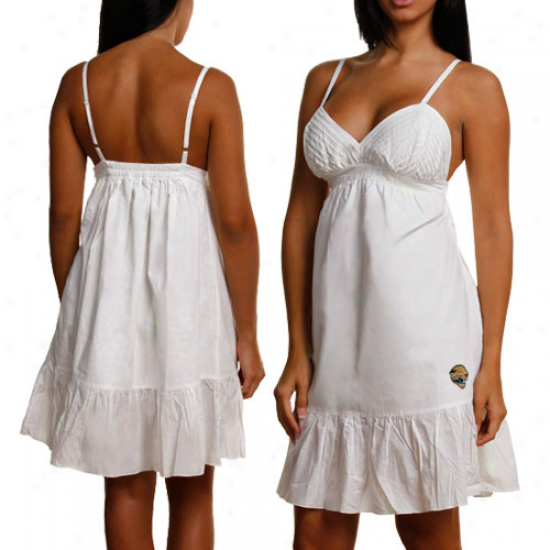 Touch By Alyssa Milano Jacksonville Jaguars Ladies White Spaghetti Strap Sundress