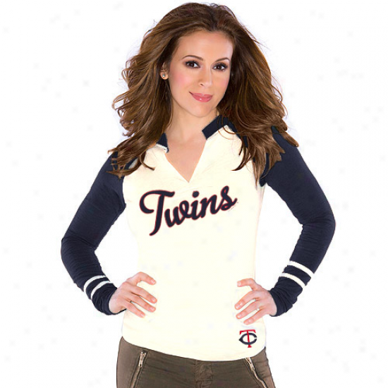 Touch By Alyssa Milano Minnesota Twins Ladjes Sports Envy Long Sleeve Slub T-shirt - Creak
