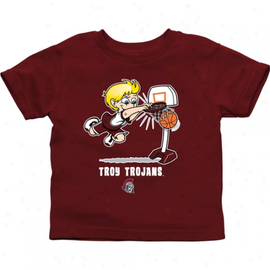 Troy University Trojans Toddler Boys Basketball T-shirt - Cardinal