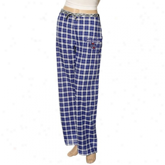 Tulsa Golden Hurricane Ladies Blue Plaid Heritage Woven Pajama Pants