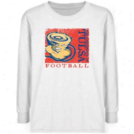 Tulsa Golden Hurricane Youth White Sport Stamp T-shirt