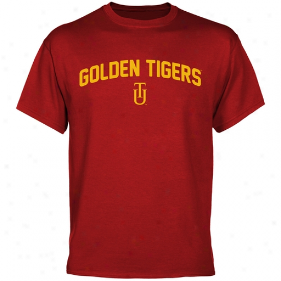 Tuskegee Golden Tigers Mascot Logo T-shirt - Crimson