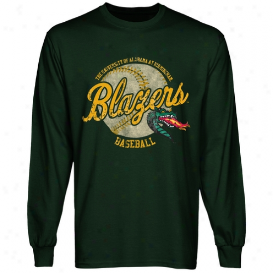 Uab Blazers Original Pastime Long Sleeve T-ehirt - Green