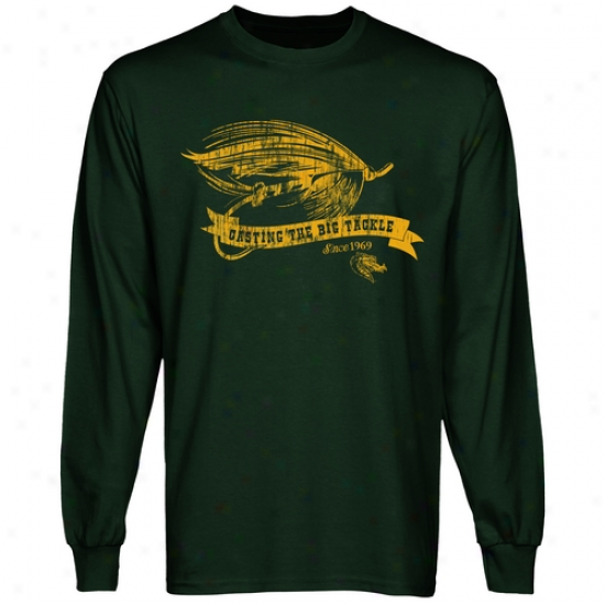 Uab Blazers Tackle Long Sleeve T-shirt - Green