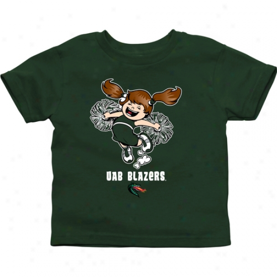Uab Blazers Toddler Cheer Squad T-shirt - Green