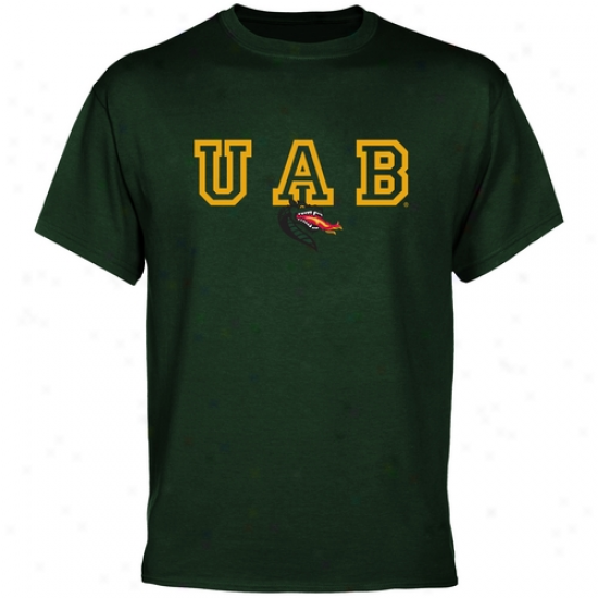 Uab Blazers Wordmark Logo T-shirt - Green