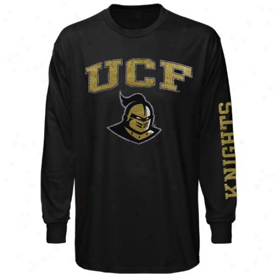 Ucf Knights Big Arch & Logo Long Sleeve T-shirt - Black