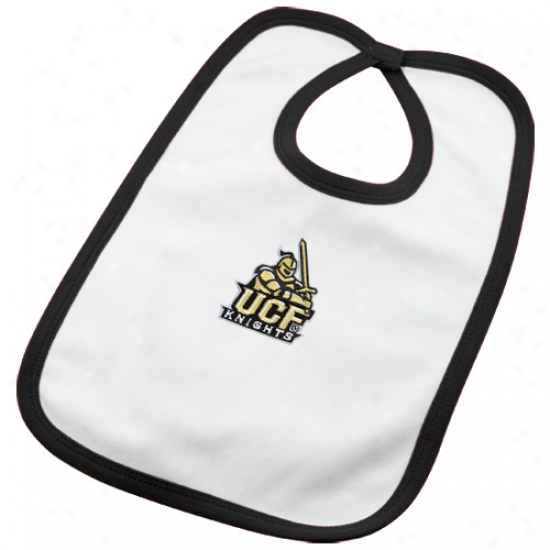 Ucf Knights Babe White Tean Logo Cotton Bib