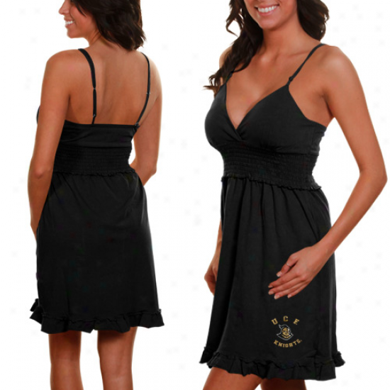 Ucf Knights Ladies Black Paddington Sundress