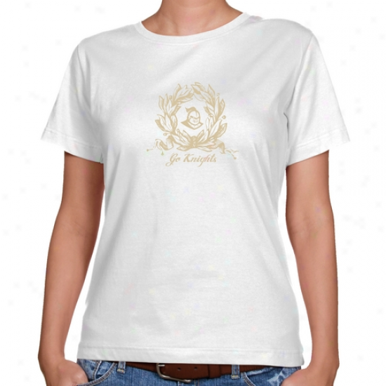 Ucf Knights Ladies White Wreath First-rate Fit T-shirt