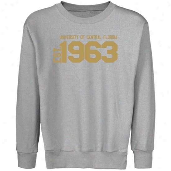 Ucf Knights Juvenility Steel Est. Date Crew Neck Fleece Sweatshirt
