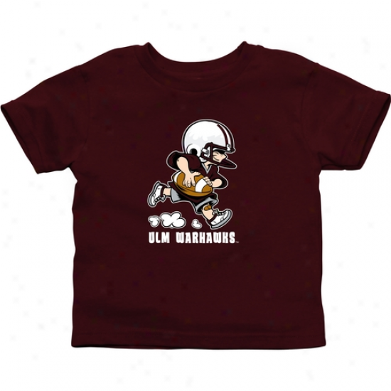 Ulm Warhawks Infant Little Squad T-shi5t - Maroon