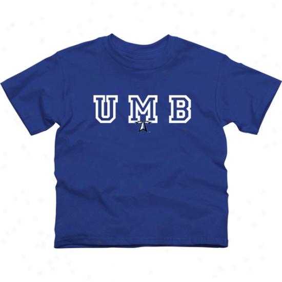 Umass Boston Beacons Youth Wordmark Logo T-shirt - Royal Blue