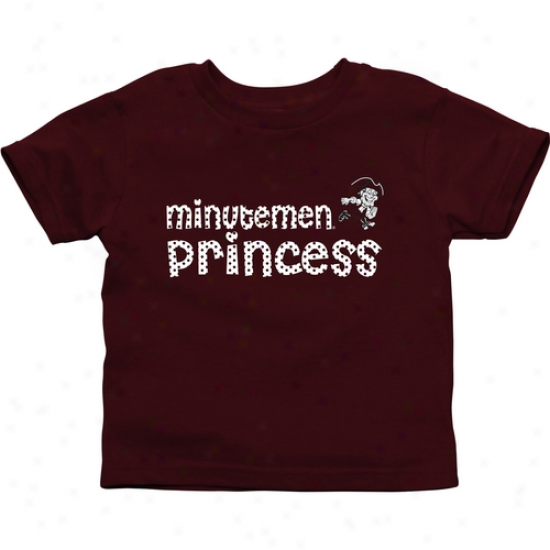 Umass Minutemen Toddler Princees T-shirt - Maroon